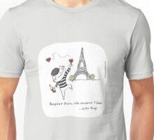 Respirer Paris, cela conserve l'âme - Victor Hugo / French doodle Unisex T-Shirt