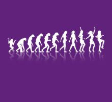 Evolution woman dancing (white ink) by buud