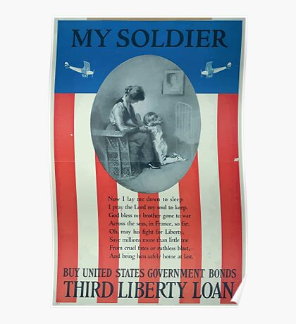 My soldier Buy United States government bondsThird Liberty Loan Poster