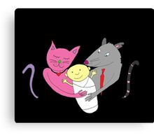 the Cat caught the Rat Canvas Print