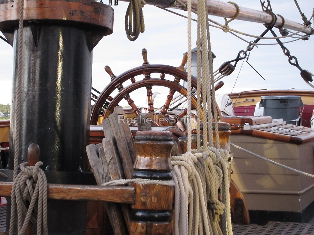 HMS Bounty - At the Helm by Rochelle Smith