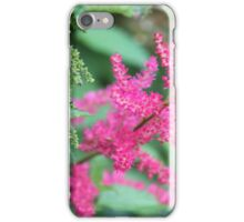Pink Meadow Sweet Close Up iPhone Case/Skin