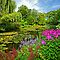 Claude Monet&#x27;s garden at Giverny, France. by Aleksandar Topalovic