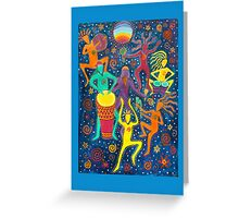 Rainbow Moon Dance Greeting Card