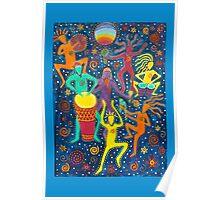 Rainbow Moon Dance Poster
