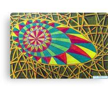 360 - RAINBOW DESIGN - DAVE EDWARDS - COLOURED PENCILS - 2012 Canvas Print
