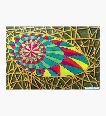 360 - RAINBOW DESIGN - DAVE EDWARDS - COLOURED PENCILS - 2012 Photographic Print