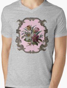 Rococo Flower Mens V-Neck T-Shirt
