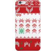 Merry Space Invaders! iPhone Case/Skin