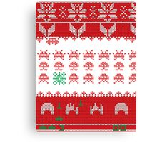 Merry Space Invaders! Canvas Print
