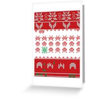 Merry Space Invaders! Greeting Card