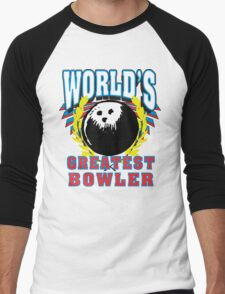 World's Greatest Bowler T-Shirt Men's Baseball ¾ T-Shirt