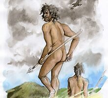 Homo sapiens (11 - 12,000 b.p.) by A V S TURNER
