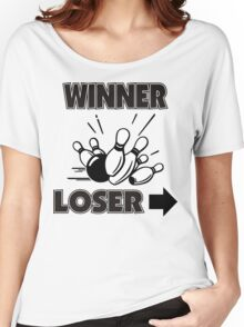 Funny Winner Bowling T-Shirt Women's Relaxed Fit T-Shirt
