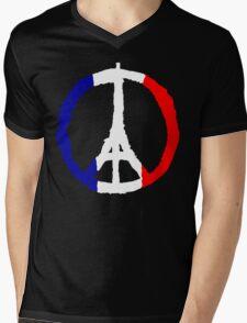 Peace For Paris Mens V-Neck T-Shirt