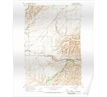 USGS Topo Map Washington State WA Eureka 241086 1966 24000 Poster