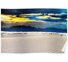 Last Light on the Dunes at White Sands Poster