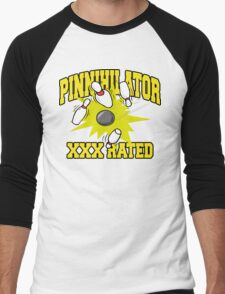 XXX Rated Bowling T-Shirt Men's Baseball ¾ T-Shirt