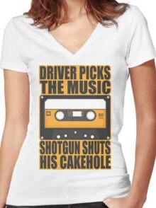 SUPERNATURAL - Driver Picks the Music.. Women's Fitted V-Neck T-Shirt