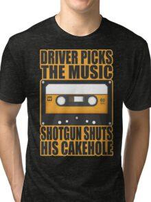 SUPERNATURAL - Driver Picks the Music.. Tri-blend T-Shirt