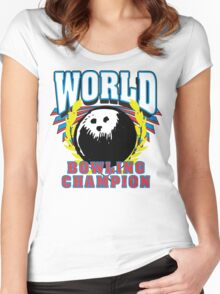 World Bowling Champion T-Shirt Women's Fitted Scoop T-Shirt