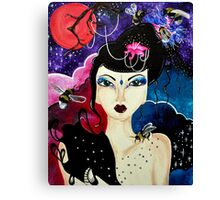 Low Red Moon  Canvas Print