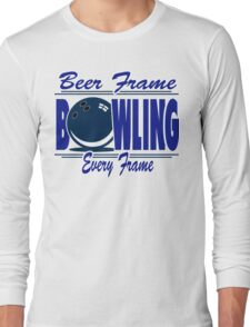 Beer Frame Bowling T-Shirt Long Sleeve T-Shirt