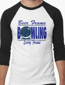 Beer Frame Bowling T-Shirt Men's Baseball ¾ T-Shirt