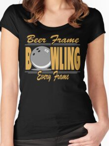 Beer Frame Every Frame Bowling T-Shirt Women's Fitted Scoop T-Shirt