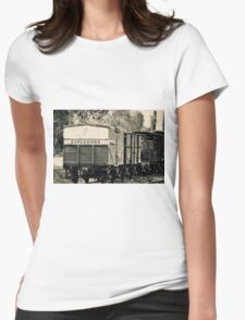 Vintage train carriage - explosives Womens Fitted T-Shirt