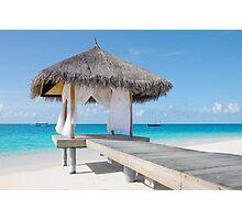 Romantic Hut with Light Ocean Breeze. Maldives  Photographic Print