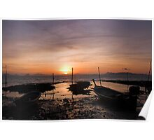 Ko Lanta Fishing Boats Poster