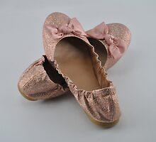 pink balet slippers by heartoftheocean