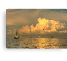 Sailing on Galveston Bay Canvas Print