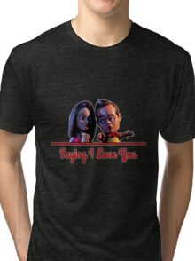 Community - Jeff and Annie Saying I Love You Tri-blend T-Shirt