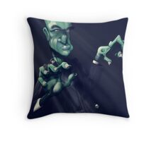 Frankie the monster Throw Pillow
