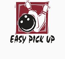 Funny Bowling Easy Pick Up T-Shirt Womens Fitted T-Shirt