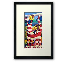 Genetic cat with angel and lovers Framed Print