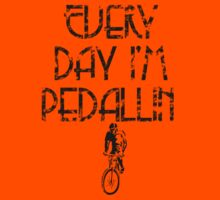Everyday I'm Pedallin' Kids Tee
