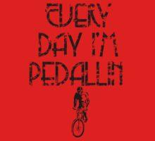Everyday I'm Pedallin' Baby Tee