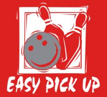 Funny Bowling Easy Pick Up Women's T-Shirt by SportsT-Shirts