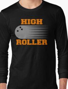 High Roller Bowling Dark T-Shirt Long Sleeve T-Shirt