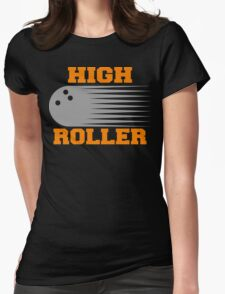 High Roller Bowling Dark T-Shirt Womens Fitted T-Shirt