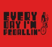 Everyday I'm Pedallin' Kids Tee