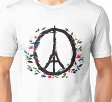 Pray for Paris flowers Sign peace and love Unisex T-Shirt
