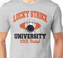 Lucky Strike University Bowling T-Shirt XXX Rated Unisex T-Shirt