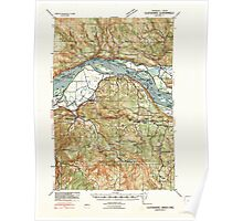 USGS Topo Map Washington State WA Clatskanie 240547 1941 62500 Poster