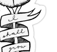 Chia-Like, I Shall Grow Sticker