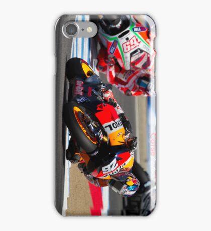 Dani Pedrosa and Nicky Hayden at laguna seca 2012 iPhone Case/Skin