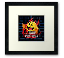 I MAIN PAC-MAN Framed Print
